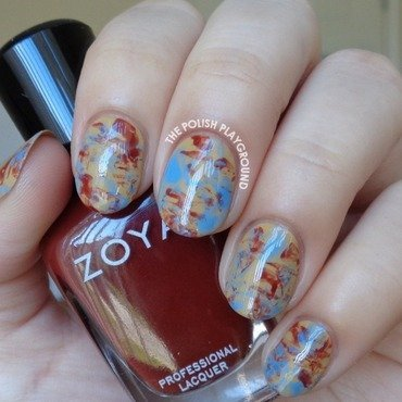 Blue 20and 20red 20brown 20saran 20wrap 20nail 20art thumb370f