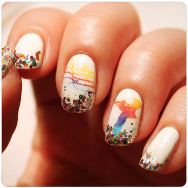 Musical Rainbow nail art by KataTM