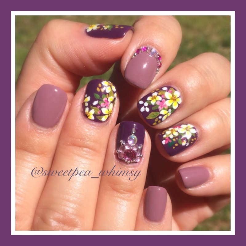 💜 Purple Spring Bouquet - Take Two nail art by SweetPea_Whimsy