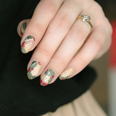 Joyeux Noël 2014 nail art by Tenshi_no_Hana