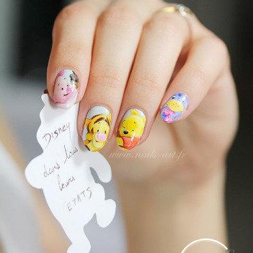 Bébé Winnie et sa bande nail art by Tenshi_no_Hana