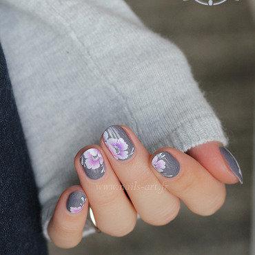 Perles de gris nail art by Tenshi_no_Hana