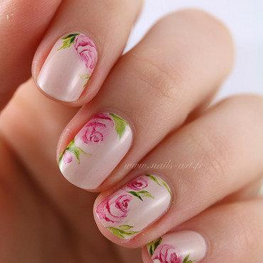 Tendresse Aquarelle nail art by Tenshi_no_Hana