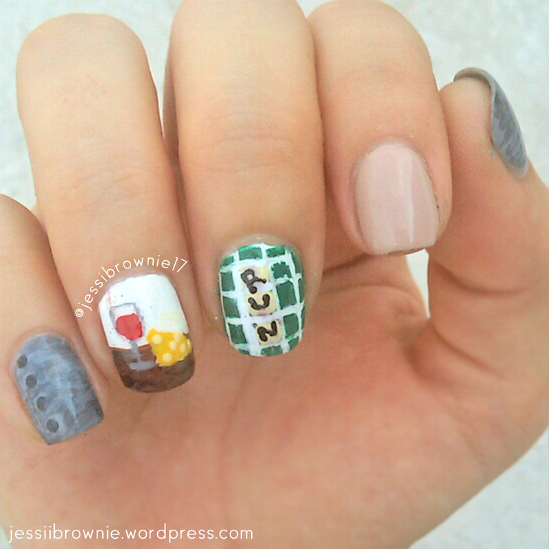 Fred The Vampire Accountant Nail Art nail art by Jessi Brownie (Jessi)