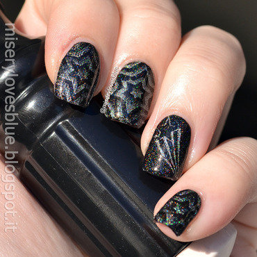 Optical Stars nail art by MiseryLovesBlue