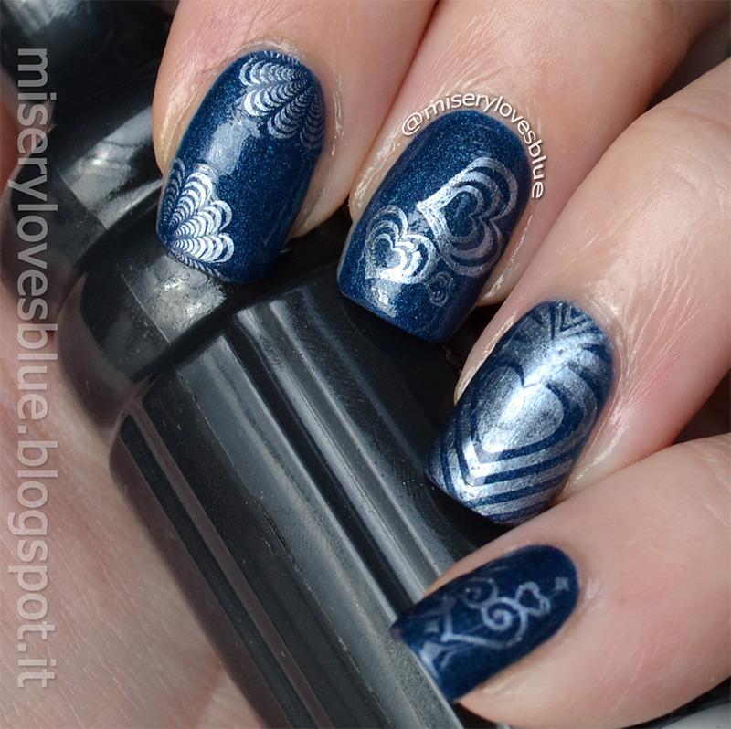 Subtle Love nail art by MiseryLovesBlue