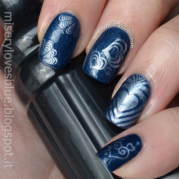 Subtle Love nail art by MiseryLovesBlue