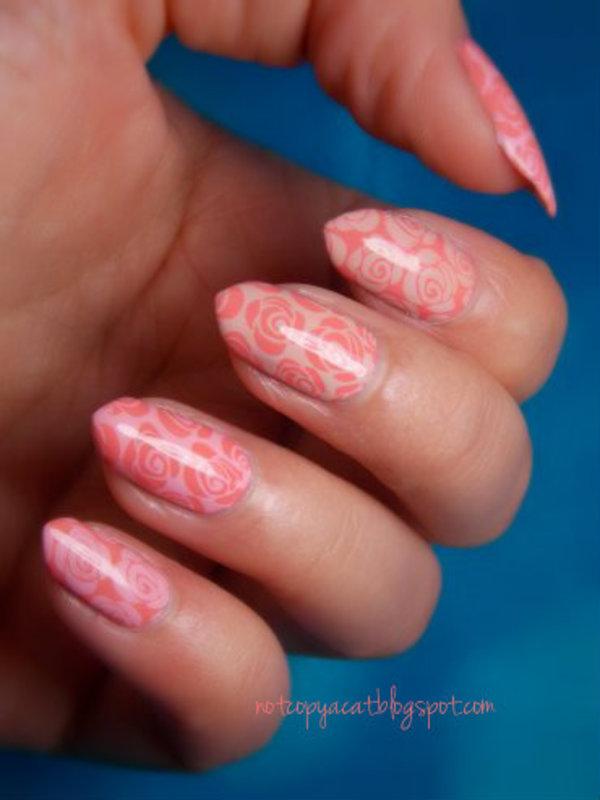 Pastel roses nail art by notcopyacat