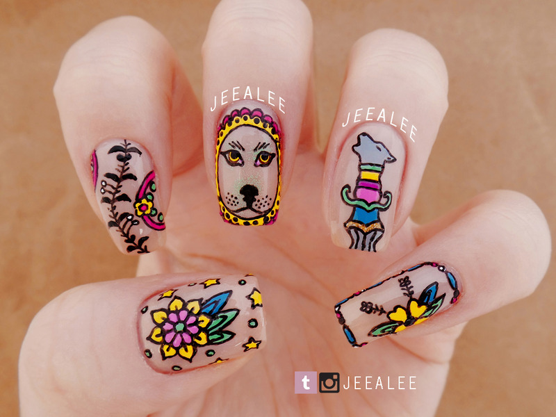 Tattoo nails nail art by jeea lee nailpolis museum of nail art tattoo nails nail art by jeea lee prinsesfo Image collections
