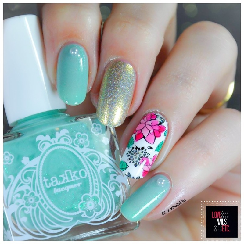 Nature & Flowers nail art by Love Nails Etc