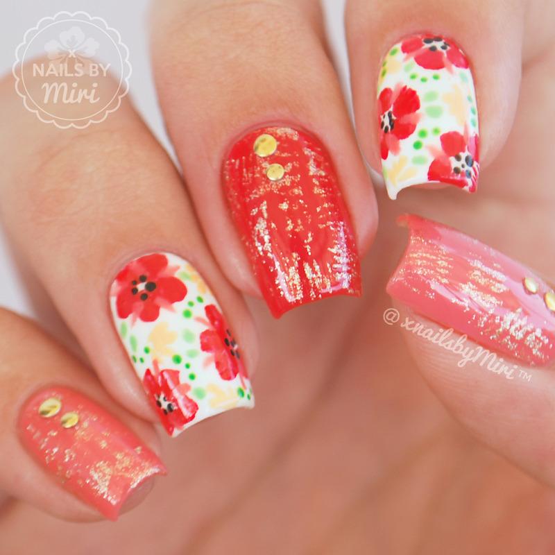 Spring Floral nail art by xNailsByMiri