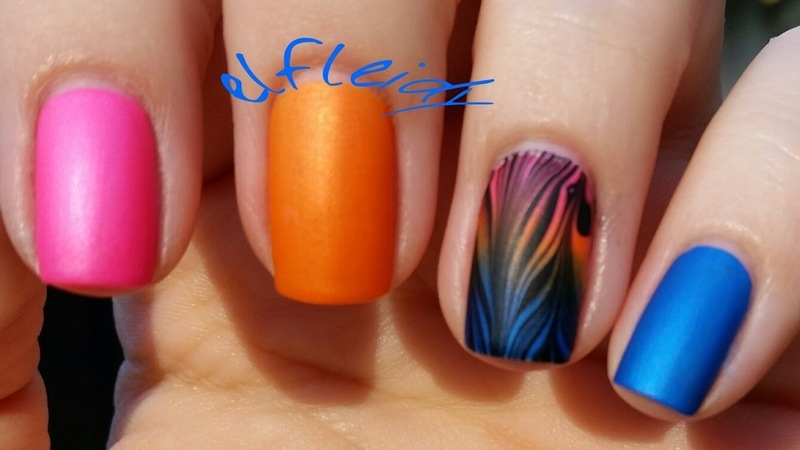 #watermarblepracticewed 04-06-2016 nail art by Jenette Maitland-Tomblin