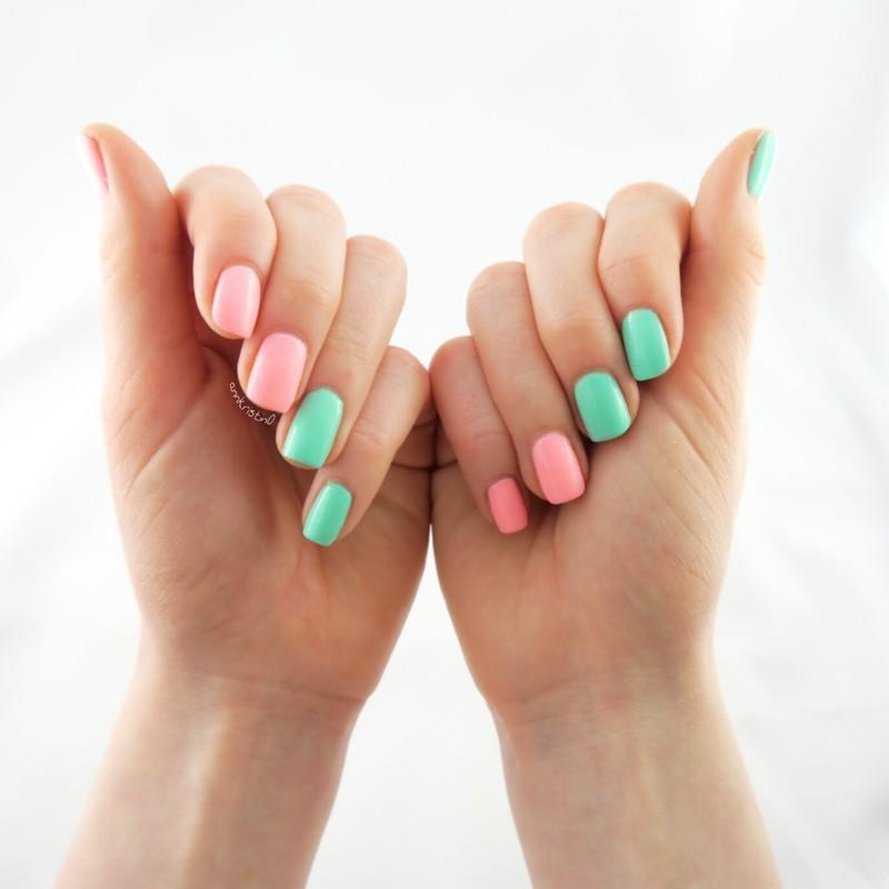 Perfect Spring Combo nail art by Ann-Kristin