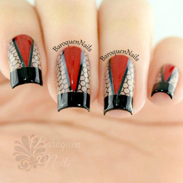 Ruche nail art by BaroquenNails