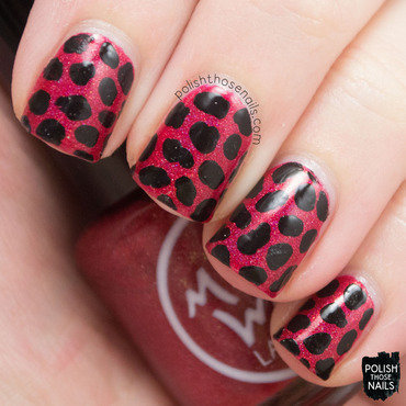 Midwest lacquer happy holodays red holo black splotches nail art 3 thumb370f
