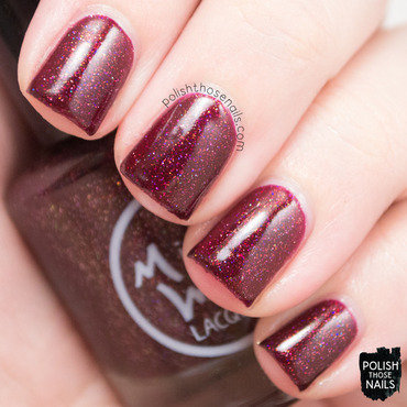 Midwest lacquer click three times burgundy holo swatch 3 thumb370f