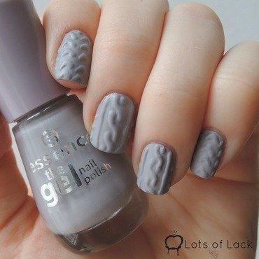 Knitted Nails nail art by LotsOfLack