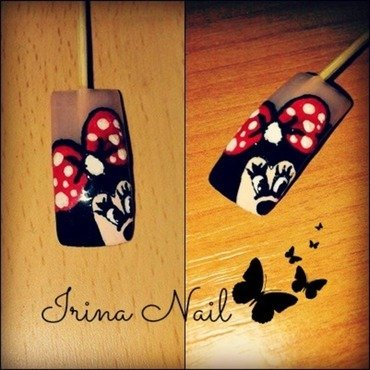 EXAMPLE Minni Mouse nail art by Irina Nail