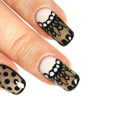 Sheer lingerie nail art by Tribulons