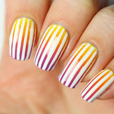 Neon nail art striping tape tutorial gradient nail art degrade ssummer sunset gradient 3 thumb370f