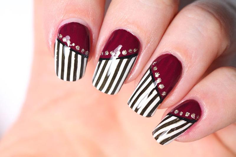 Burlesque nail art nail art by Tribulons