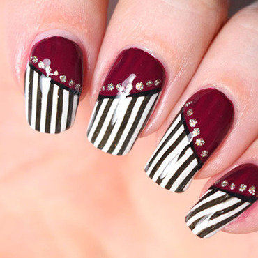 Burlesque nail art nail art by Tribulons