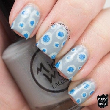 Midwest lacquer heartless blue grey shimmer creme blue polka dot nail art 3 thumb370f
