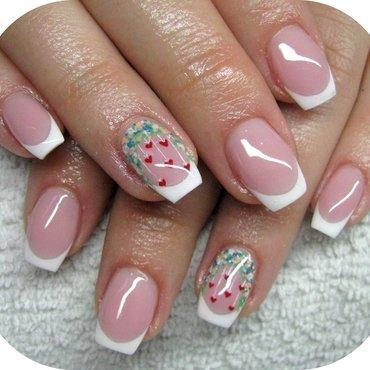 Romantic spring nail art by Boglarka Tornai