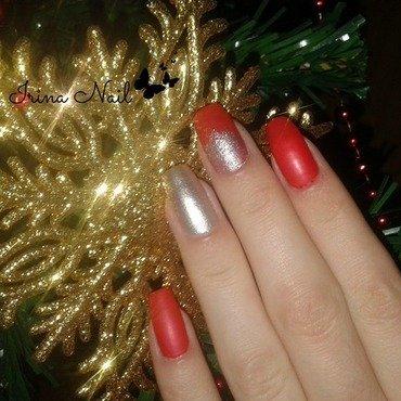 Red nail art by Irina Nail