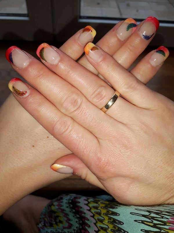 Spring - ombre french nail art by Ewa EvaNails