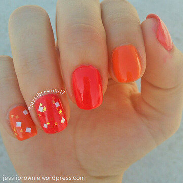 Ode to Summer nail art by Jessi Brownie (Jessi)