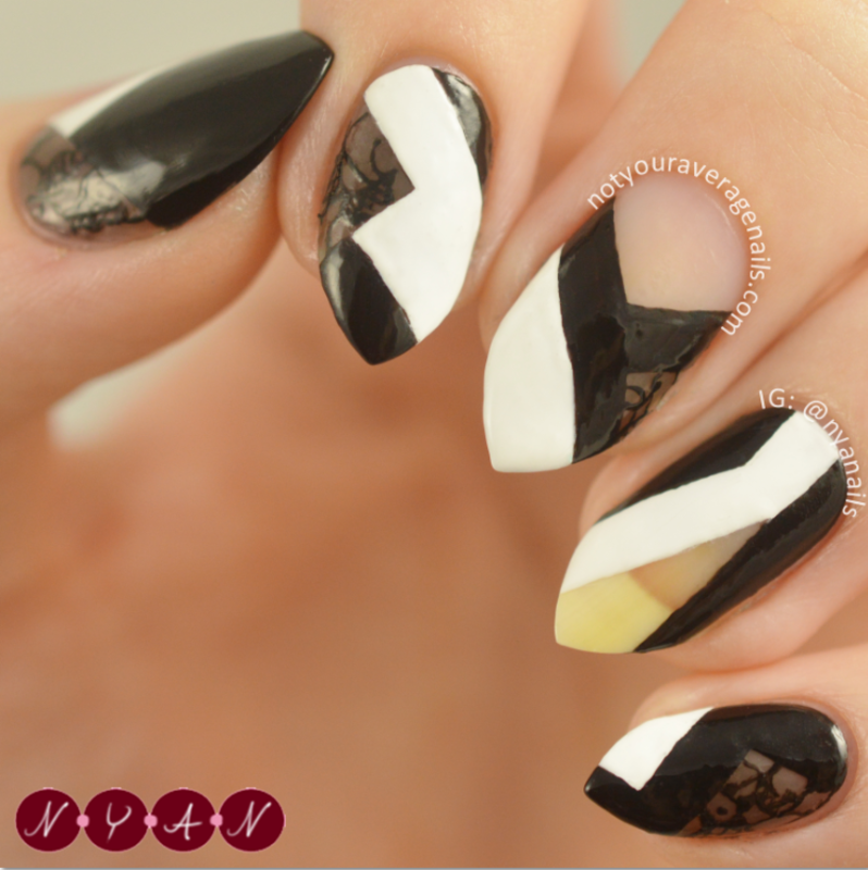 NAFW2016 Day One: Favourite Designer nail art by Becca (nyanails)