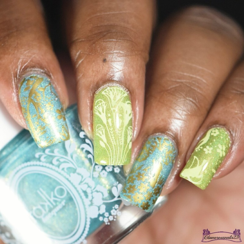 WNAC April 2016: Nature nail art by glamorousnails23