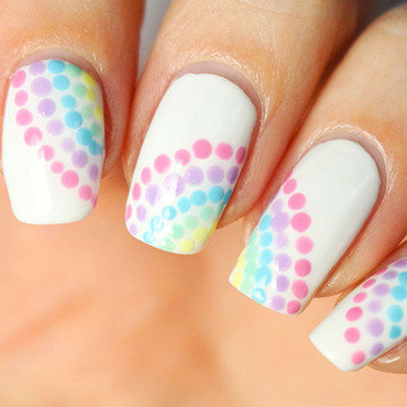 Pastel rainbow nail art by Tribulons