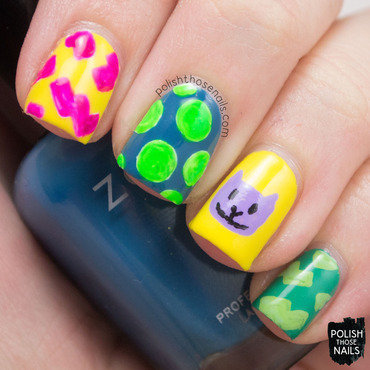 Rugrats bright pattern nail art 4 thumb370f