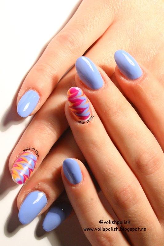 Marbling nail art  nail art by Volish Polish