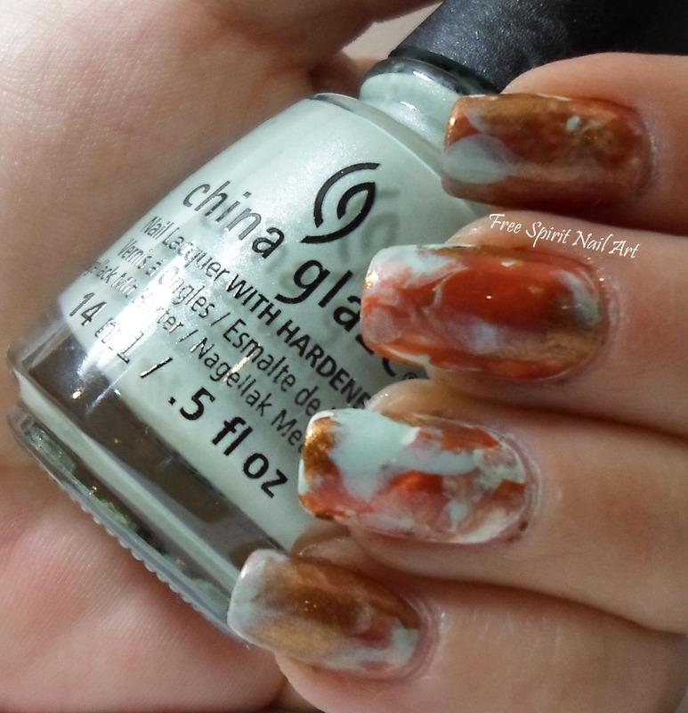 Turquoise Stone Nails nail art by Free_Spirit_Nail_Art