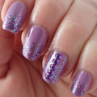 Glitter and Studs nail art by Free_Spirit_Nail_Art