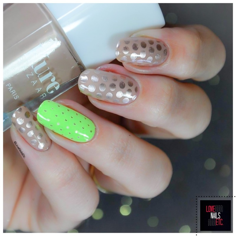 Polka Dots nail art by Love Nails Etc