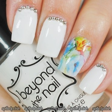 Water Decal Accent Nail nail art by Maddy S