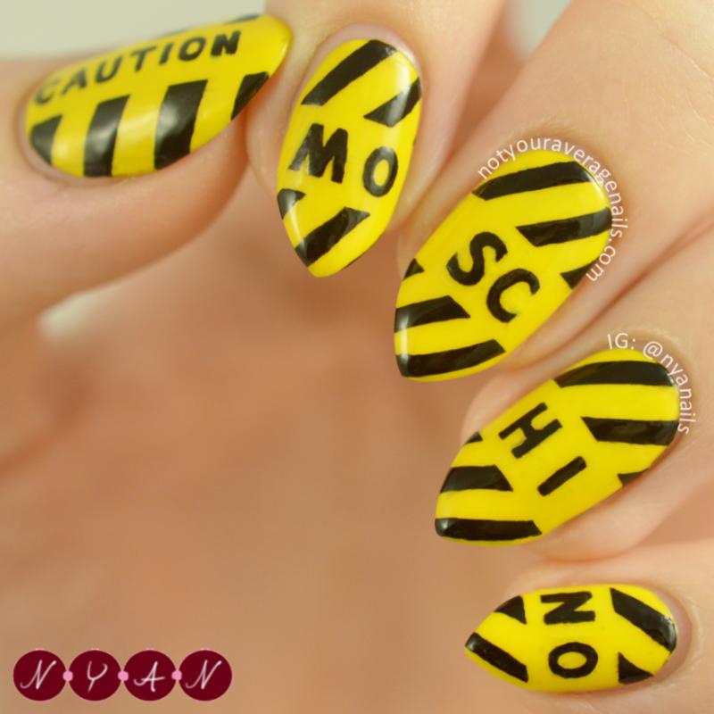 NAFW2016 Day Three: Bag nail art by Becca (nyanails)