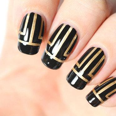 Gatsby nail art by Tribulons
