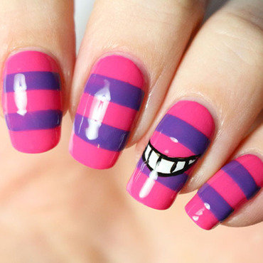 Cheshire cat nail art nail art by Tribulons
