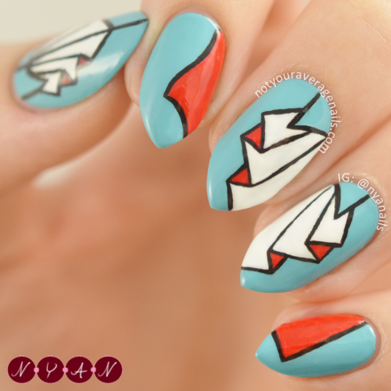 NAFW2016 Day Four: Fashion Trend nail art by Becca (nyanails)