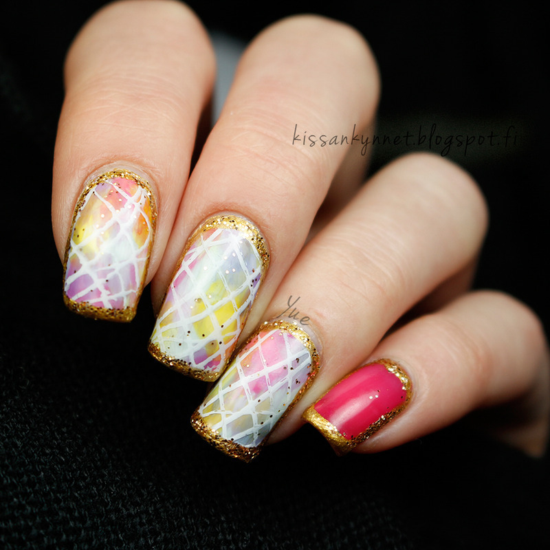 Unicorn Fart nail art by Yue