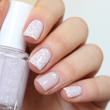 delicate stamping nail art by NailThatDesign