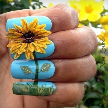 sun-loving nail art by Dess_sure