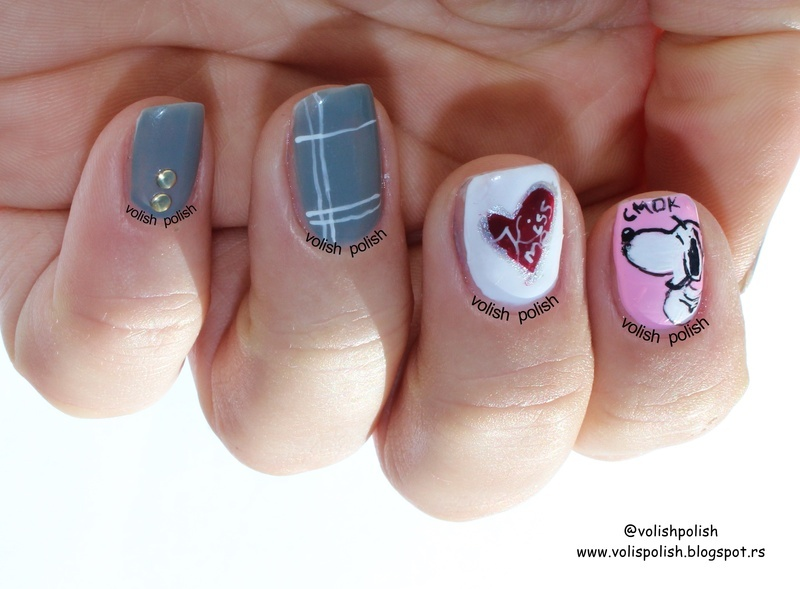 Snoopy nail art nail art by Volish Polish
