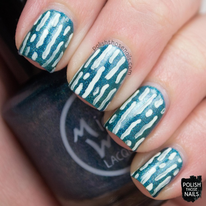 Wavy Emeralds nail art by Marisa  Cavanaugh