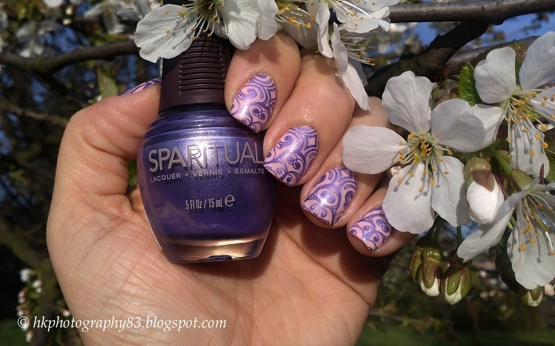 Stamping with SpaRItual Supportive nail art by Hana K.